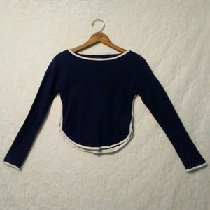 VTG Tommy Hilfiger Long Sleeve Crop Shirt Cotton